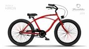 Linnaratas Plumbike Rider X Hiron Cruiser 26 3k punane