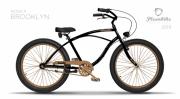 Linnaratas Plumbike Rider X Brooklyn Cruiser 26 3k must/pruun